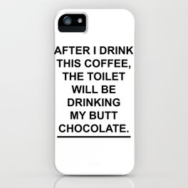 Coffee & Chocolate iPhone Case