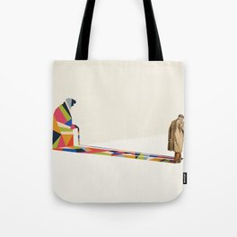 Walking Shadow, Old Man Tote Bag