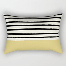 Daffodil Yellow x Stripes Rectangular Pillow