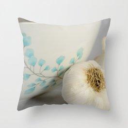 Garlic Bowl Throw Pillow