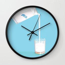 Enjoy fresh milk retro advert. Wall Clock