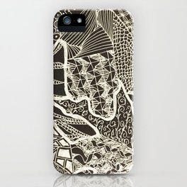 Zentangles 01 iPhone Case