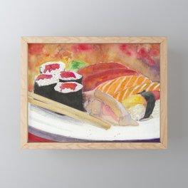 Sushi And Sashimi Dinner Platter Framed Mini Art Print