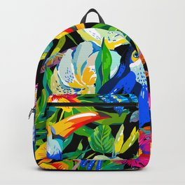 Tropical Parrots Backpack