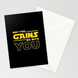 May The Gains Be With You Stationery Cards