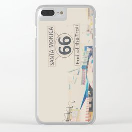 the end of route 66 ... Clear iPhone Case