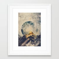 mountain Framed Art Prints featuring One mountain at a time by HappyMelvin