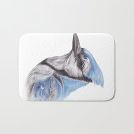 Blue Jay - CYANOCITTA CISTATA | Watercolour | Painting | Animal | Nature | Art Bath Mat