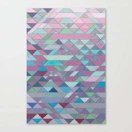 Triangle Pattern no.3 Violet Canvas Print