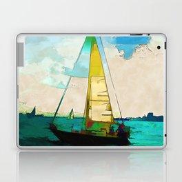 Night Sailing  -  Sailboats Laptop & iPad Skin