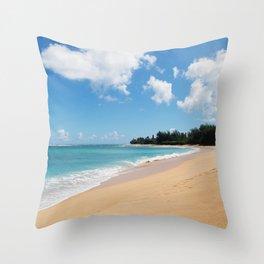 Tunnels beach Throw Pillow