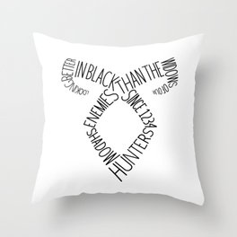 Shadowhunters' Angelical Rune w/ quote Throw Pillow
