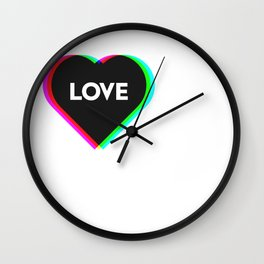 CMYK in RGB Love Heart Wall Clock