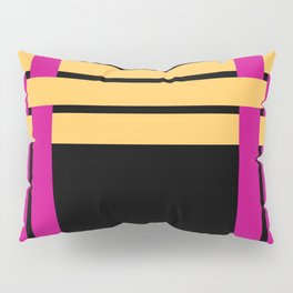 The intertwining pink and yellow ribbons Pillow Sham