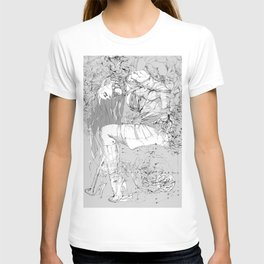 Lady in Peonies T-shirt