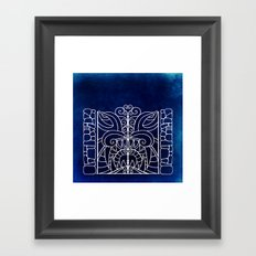 Threshold Guardian (blue) Framed Art Print