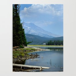 The Blue Cascade Lakes Poster