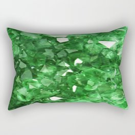 EMERALD GREEN CRYSTALS  MAY BIRTHSTONE Rectangular Pillow