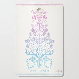 La Vie + La Mort: Rose Quartz & Serenity Ombré Cutting Board