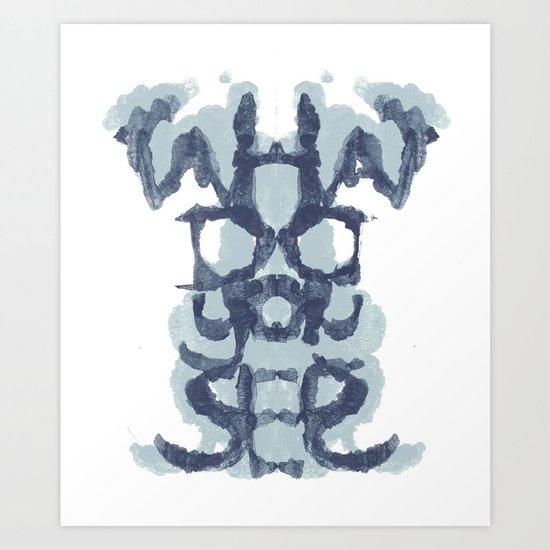 Typography Psychology Art Print