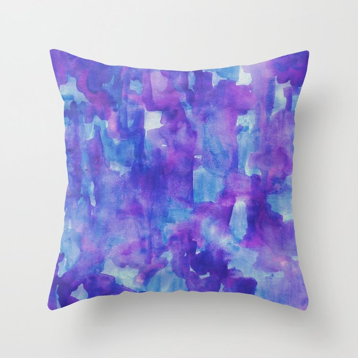 Blue And Lavender Throw Pillows : Blue & Purple Throw Pillow by georgianaparaschiv Society6