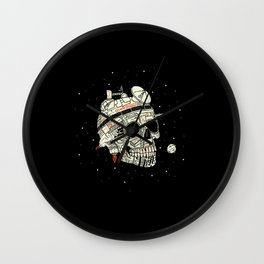 Planet Space Skull  Wall Clock