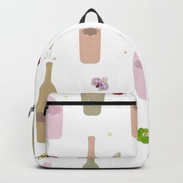 Colorful Champagne Bottle Backpack