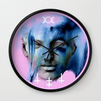 goddess Wall Clocks featuring GODDESS by RSRRRCT clothing