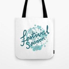 Festival Season Design Teals Tote Bag