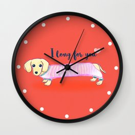 Valentine's Day dachshund dog Wall Clock