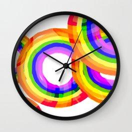 Cheery Rainbow  Wall Clock