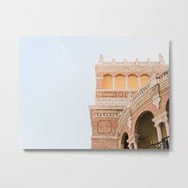 Spanish architecture in Valencia Spain   Pastel fine art photography print travel art Metal Print