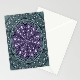 Star and flower mandala in wonderful colors Stationery Cards