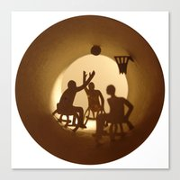 basketball Canvas Prints featuring Basketball by Anastassia Elias