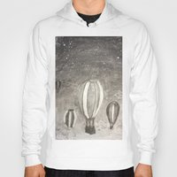 hot air balloons Hoodies featuring Hot Air Balloons by Evanne Deatherage