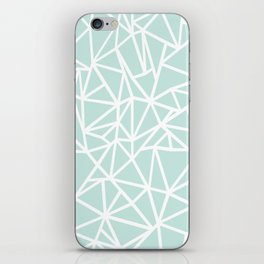 Ab Outline Thick Mint iPhone Skin