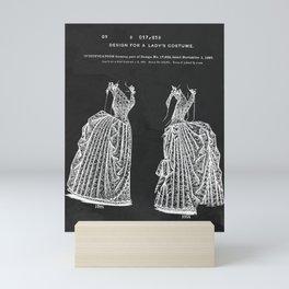 1887 Lady's Dress Patent Print Mini Art Print