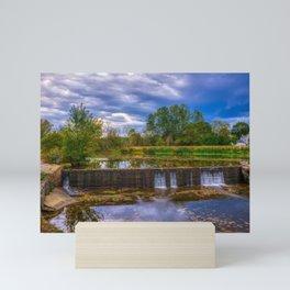 Wehr's Dam Storm Clouds HDR Mini Art Print