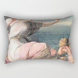 Angelica Kauffmann - Ariadne Abandoned by Theseus Rectangular Pillow