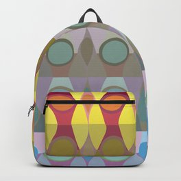 Patterned grid, color theory Backpack
