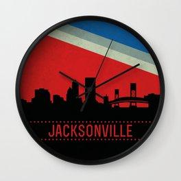 Jacksonville Skyline Wall Clock