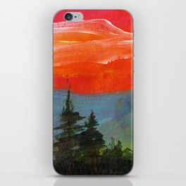Red sky at night iPhone Skin