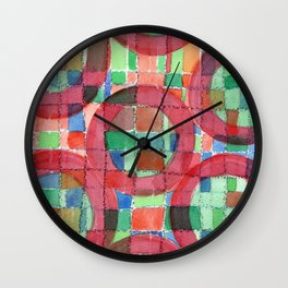 Red Magical Rings Wall Clock