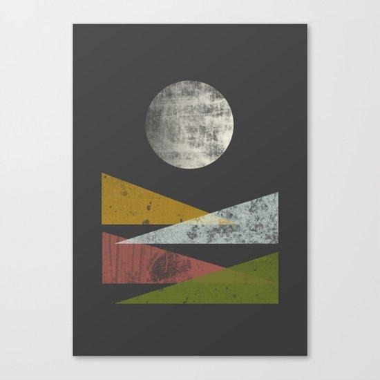Hills at night Canvas Print