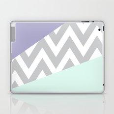 Mint & Lavender Chevron Block Laptop & iPad Skin