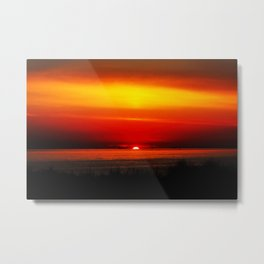 Distant Ships Metal Print