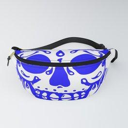 Blue Skully Fanny Pack