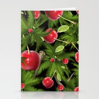 cherry Stationery Cards featuring cherry by mark ashkenazi