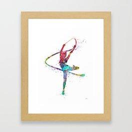 Rhythmic Gymnastics Print Sports Print Watercolor Print Framed Art Print