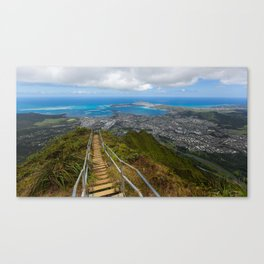 Hawaii's Haiku Stairs Canvas Print